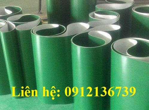 Băng tải pvc xanh tại xưởng Việt Phát