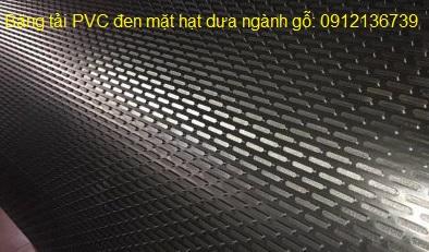 Băng tải PVC đen mặt hạt dưa
