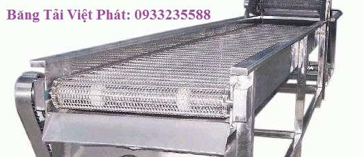 Băng tải xích lưới inox Việt Phát thiết kế và sản xuất
