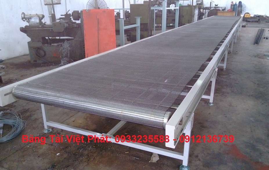 thiết kế sản xuất băng tải xích lưới inox