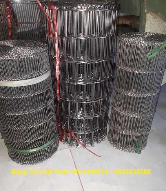 băng tải xích lưới thang inox 304