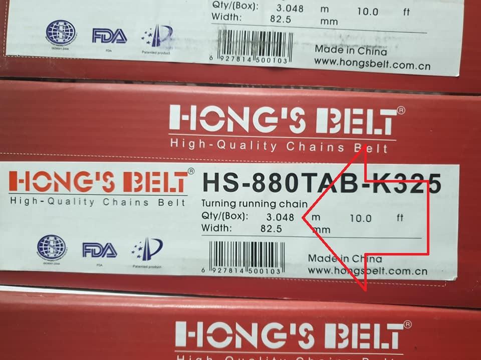 Băng tải xích Hong's Belt