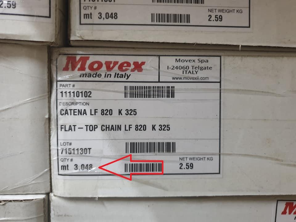 Băng tải xích Movex