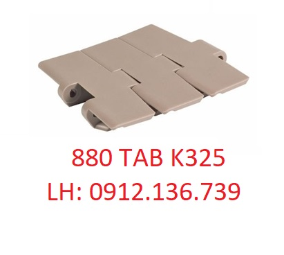Mẫu băng tải xích nhựa 880 TAB