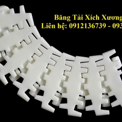 Fishbone plastic chain conveyor