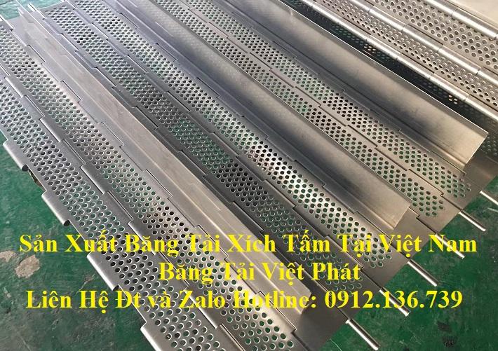 băng tải xích tấm inox 304 sản xuất tại Việt Nam