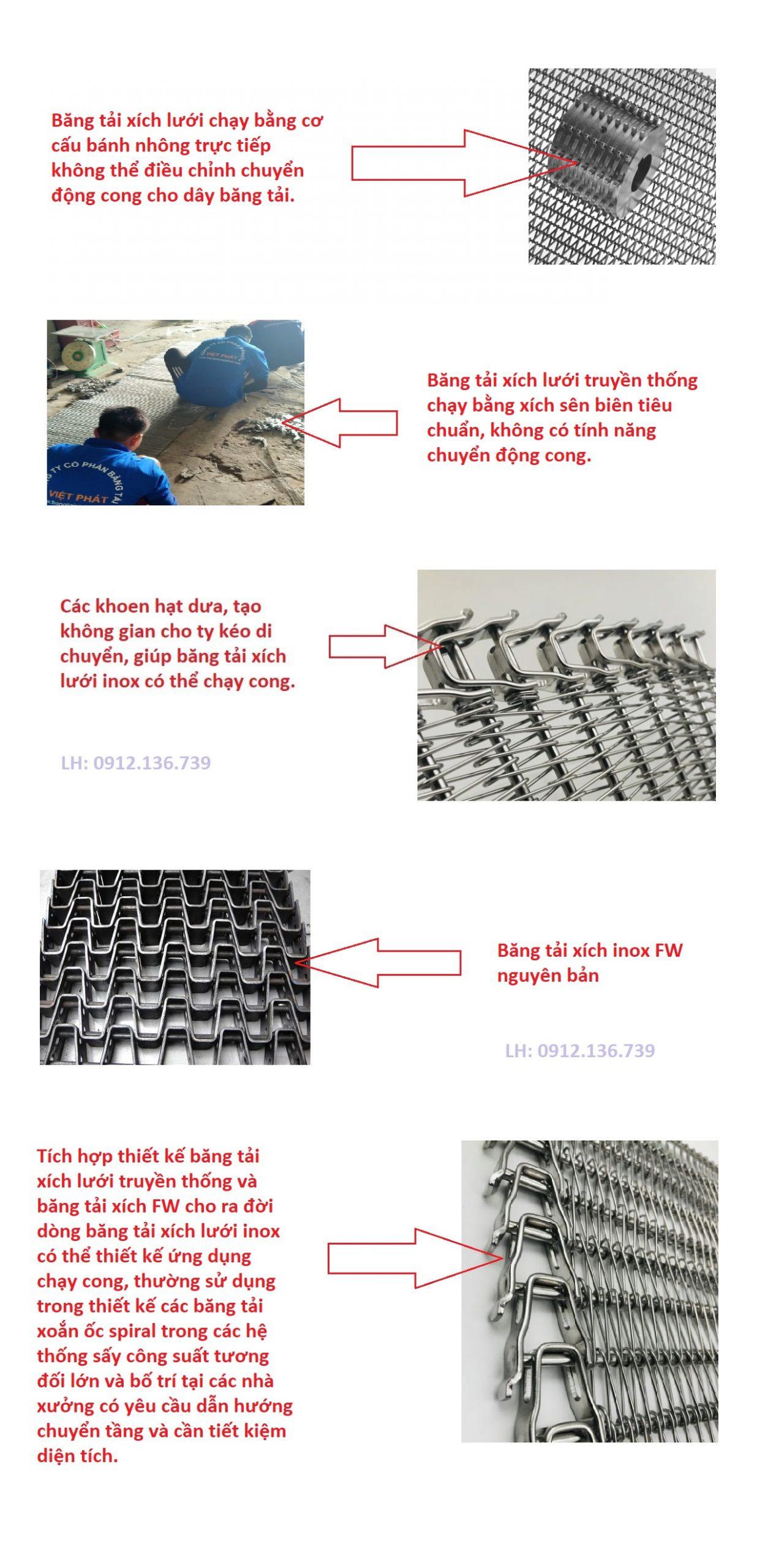 băng tải xích lưới inox việt phát