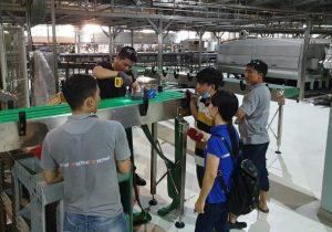 Thi công hệ thống băng tải xích tại Bia Sài Gòn