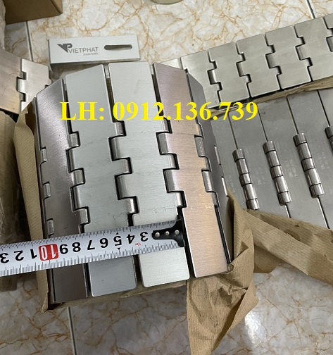 bước xích băng tải xích inox 802 K750