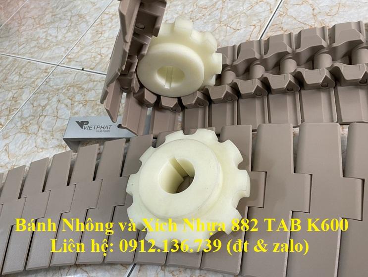băng tải xích nhựa 882 TAB