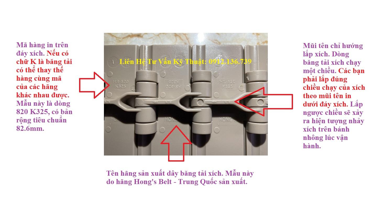hướng dẫn lắp ráp băng tải xích 820 K325